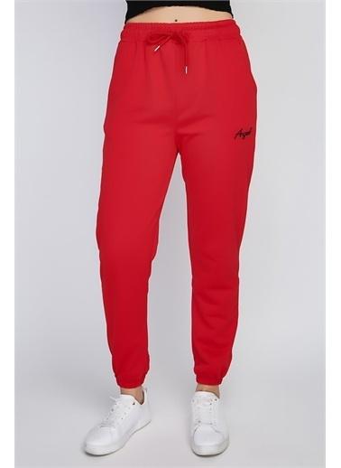 Rodi Jeans Kadın Angel Nakışlı Paça Lastikli Alt Eşofman Ds21Yb091018 Kırmızı